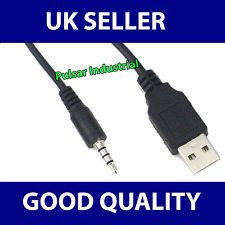 USB-A To 3.5mm Male Jack Charger Cable Phone Audio Speakers Headphone Data Lead