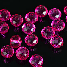free shipping 30pcs rose exquisite Glass Crystal 6x8mm #5040 loose beads'