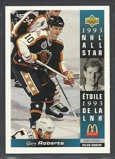 1993-94 Upper Deck McDonald's NHL All Stars - #11 - Gary Roberts - Flames