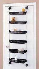 Over Door Shelf Basket Closet Pantry Kitchen Storage Rack Bathroom Cabinet
