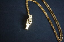 gold tone parrot necklace kitsch emo sweet leaf