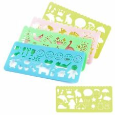 4X Plastic Picture Drawing Template Stencils Rulers Painting Kids DIY Making