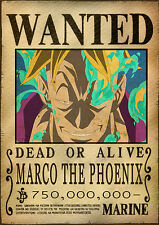 POSTER A4 PLASTIFIE-LAMINATED(1 FREE/1 GRATUIT)*MANGA ONE PIECE WANTED MARCO PHO