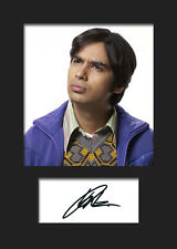 TBBT KUNAL NAYYAR #2 A5 Signed Mounted Photo Print (RePrint) - FREE DELIVERY
