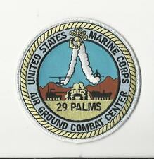 USMC PATCH - MARINE CORPS  AIR GROUND COMBAT CENTER 29 PALMS