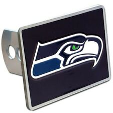Seattle Seahawks Rectangle Logo Trailer Hitch Cover ~ New