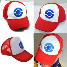 NEW Pokemon GO Cap Hat Ash Ketchum Costume Cosplay Embroidery Character Trainer