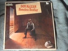 "12"" LP Record. Don McLean.""Homeless Brother"" 1974 U.A.Records."