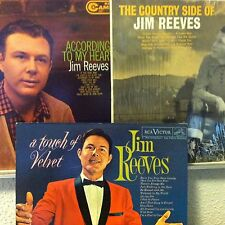 JIM REEVES 3-LP LOT According To My Heart/A Touch Of Velvet/The Country Side