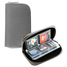 22 Slots Memory Card Carrying Case Holder Pouch for SD SDHC MMC Micro SD - Grey