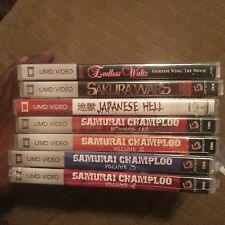 Japanese Anime UMD Video Lot Of 7  For PSP Sealed
