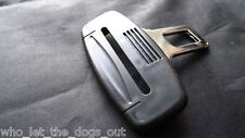 AUDI SEAT BELT ALARM BUCKLE KEY INSERT PLUG CLIP SAFETY CLASP STOPPER