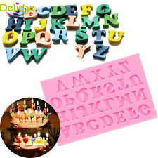 Silicone Alphabet Letter Cake Fondant Decorating Trays Chocolate Baking Mold