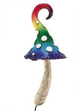 Enchanted Rainbow Miniature Mushroom for a Miniature Fairy Garden or Lawn Gnomes
