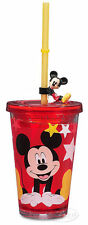 Disney Store Mickey Mouse Acrylic Tumbler Twist Tight Lid & Straw BPA Free NEW