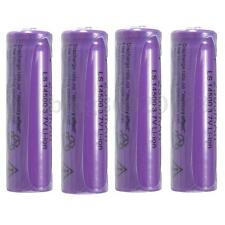 4PZ 2300mAh 14500 AA Li-ion viola Rechargeable Battery batteria RICARICABILE