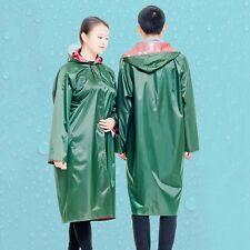 Adult Visor Raincoat Windproof Waterproof Jacket Riding Rainwear Long Rain Coat