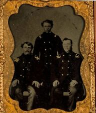 1860's CIVIL WAR UNION NAVY OFFICER CASED TINTYPE PHOTO QUARTER PLATE PHOTOGRAPH