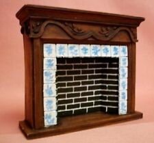 Dollhouse Miniature French Country Fireplace Doll House Furniture