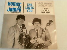 HOMER AND JETHRO~I WANT TO HOLD YOUR HAND~SHE LOVES YOU~BEATLES~RCA 8345~ POP 45