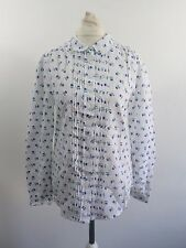Jack Wills Edwoth Blouse White Ditsy Size UK 8 RRP £44 Box4664 D