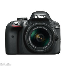 "NIKON D3300 Nero Kit 18-55mm VR AF-P Sensore CMOS DX 24Mpx 3"" Full HD"