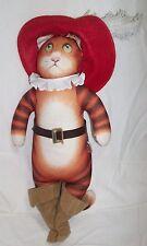 "PUSS N And BOOTS Plush CAT 1996 Design Farm Not Shrek Stuffed Animal Doll 15"""