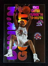 1998 Vince Carter E-X Century Dunk 'N Go Nuts SP RC Rookie Insert 1:720 Packs
