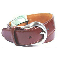 "Leather Brown Money Belt / Travel Belt - S 17"" Secret Compartment"