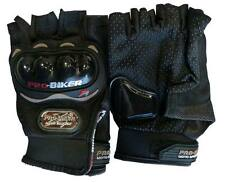 Biker Bicycle Motorcycle Riding Half Fingerless Protective Gloves Black XL Large