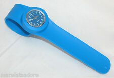 SLAP ON Silicone Rubber Fashion Bracelet Quartz Wrist Watch Adult/ Kid DARK BLUE
