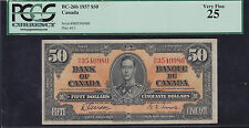 1937 Bank of Canada $50 Note - PCGS VF-25