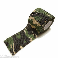 Army Camo Wrap Sniper Rifle Hide Tape Outdoor Camouflage Stealth Tape 5cm x 4.5m