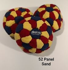 Phatboy 52 Panel SAND Filled Microsuede HackySack Footbag Red/Yellow/NavyBlue