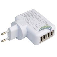 Europe EU 4 Port USB Plug Home Travel Wall Charger Power Adapter for iPhone iPod