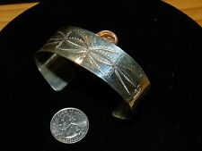 STERLING SILVER HAND MADE CUFF BRACELETS/ROBIN WOOD/NAVAJO/FREE SHIP/MUST SELL
