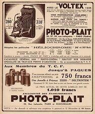 Y9263 PHOTO-PLAIT - Voltex 6 x 9 - Pubblicità d'epoca - 1935 Old advertising
