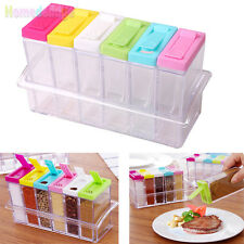 6PCS/Set Seasoning Boxes Plastic Spice Box Food Storage Kitchen Containers Hot
