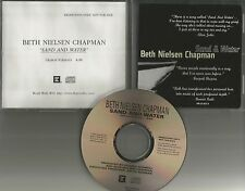 BETH NIELSEN CHAPMAN Sand & water PROMO DJ CD Single ELTON JOHN Bonnie raitt