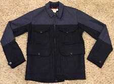 "FILSON ""Bell Bomber"" Jacket Navy Blue Wool Coat Mens Small NWT $385"