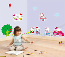 Large HELLO KITTY Wall Stickers Removable Art Decal Girls Bedroom kids Wallpaper