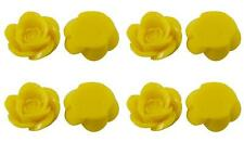 15 x Rose Resin Flat Back Cabochon Flowers 18mm x 8mm - Yellow - Lemon - CAB10