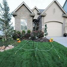 Giant Spider Web Outdoor Halloween Decor White Mega Yard Ultimate Prop 23 X New
