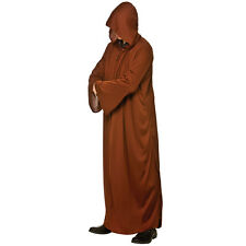 BROWN Mens Hooded Robe Costume for Halloween Jedi Syth Fancy Dress Cosplay Outfi