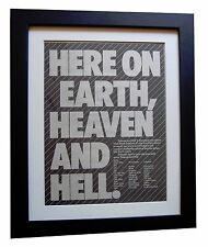 BLACK SABBATH+Heaven And Hell+POSTER+AD+ORIGINAL 1980+FRAMED+EXPRESS GLOBAL SHIP