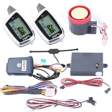 SPY 2 way LCD motorcycle alarm remote engine start function W microwave sensor