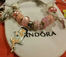 AUTHENTIC PANDORA BRACELET ��LOVE BETTY BOOP+ EUROPEAN CHARMS + PANDORA BAG