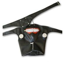 US Seller- New Anime Tokyo Ghoul Cosplay Prop Zipper PU Adjustable Mask MA01