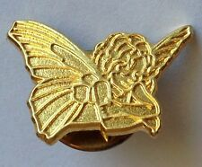 Angel Pixie Fairy Golden Style Small Pin Brooch Rare Vintage (H3)