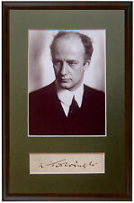 Conductor FURTWANGLER Hand SIGNED AUTOGRAPH + PHOTO + DECORATIVE MAT Autogramme